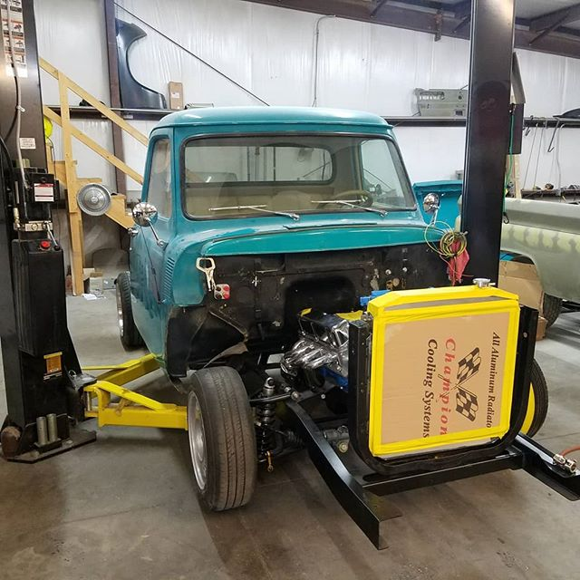Lots of progress on the f100 project  #skin #bones #skinandbones #skinandbones #skinandbonesfab #fabrication #welding #patch #ford #fordf100 #f100 #ford302 #302stroker #1954ford #1954f100 #midfifty #streettrucks #streettruck