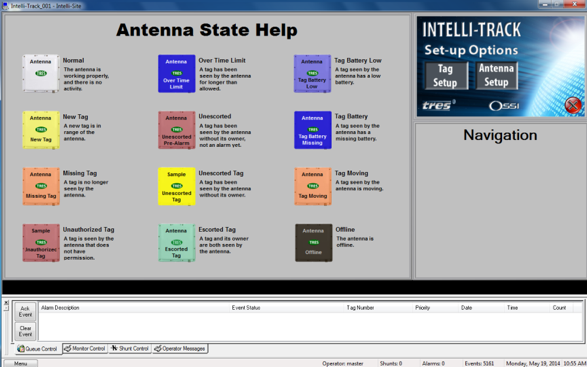 Sample of operational screen.