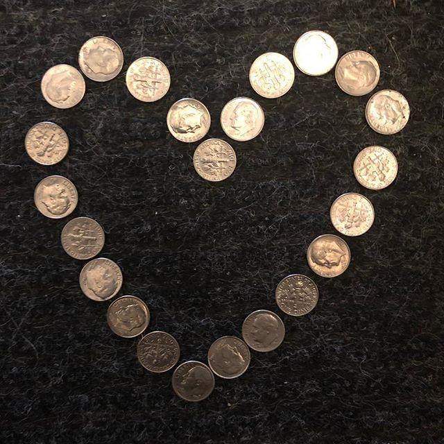 Someday I'll share my dimes stories. For now I'll give this as a bookmark ; ) #thingscanchangeonadime #dimes #mysteriesoftheuniverse #brothercanyouspareadime