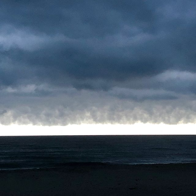 Sometimes these are more beautiful to me than a pinky sunset. Just stunning. I was captivated. I wish the camera could capture it better. #rothko ....storm rolling in... #blues #fireisland #love #thingsilove