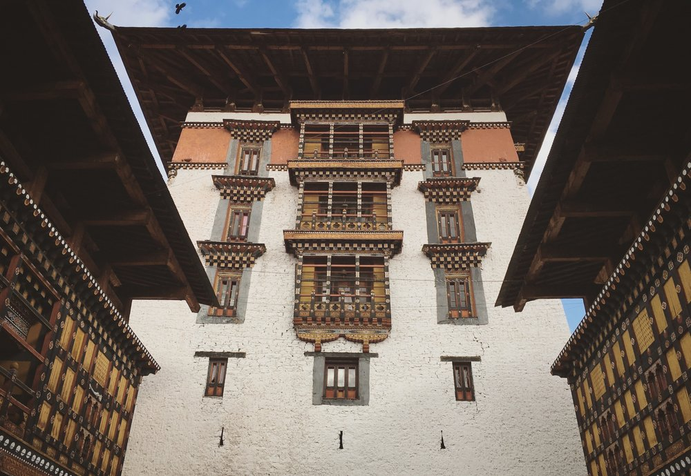 Dzongs are former fortresses that serve as religious and administrative centers.