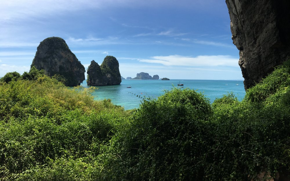 View of Phra Nang Beach from the Escher Wall, photo by Nestori Virtanen