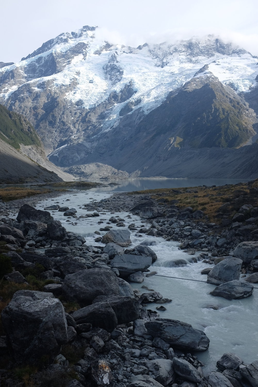 View from the Hooker Valley Hike at Mt. Cook