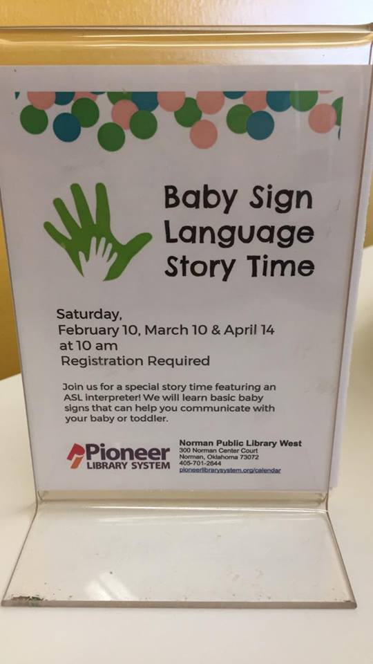 Baby Sign Language Story Time — Sight-Hearing Encouragement Program