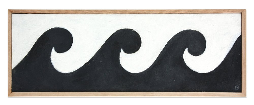 "LITTLE WAVE, 18.5"" x 6.5"""