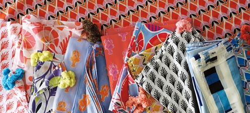 Serena & Lily cotton voile pareos. Summer2013 catalog.  Designed 2012.