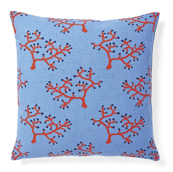 Screenprinted outdoor pillow (Designed for Serena & Lily)