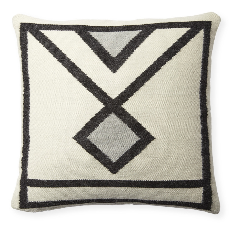 Woven alpaca wool pillow (Designed for Serena & Lily)