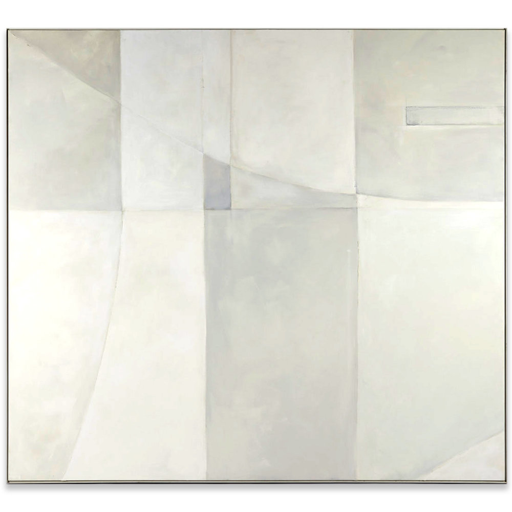 "WHITE OUT I, 84.75"" x 76.75"""