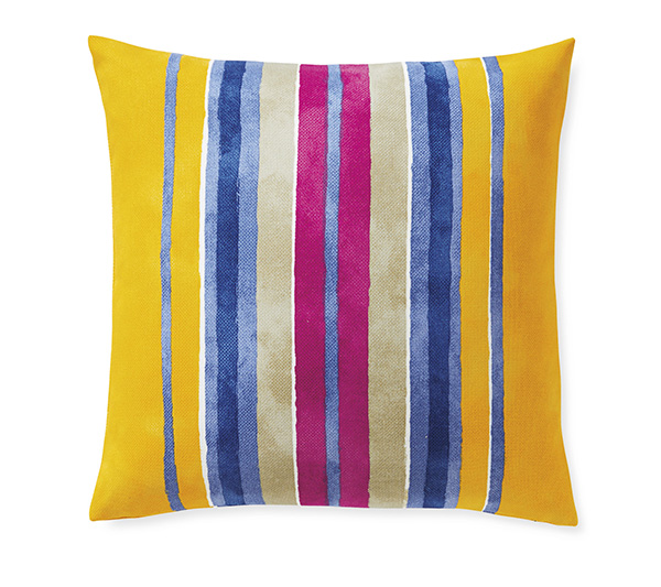 Blockprinted cotton canvas pillow (Designed for Serena & Lily)
