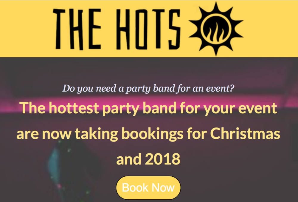 We are currently offering  10% off  our competitive prices when booking us for your wedding / Party / Event up to the end of the year! Send us an email at  thehotsuk@gmail.com  for enquiries or go   HERE   to be taken to our form page :-)