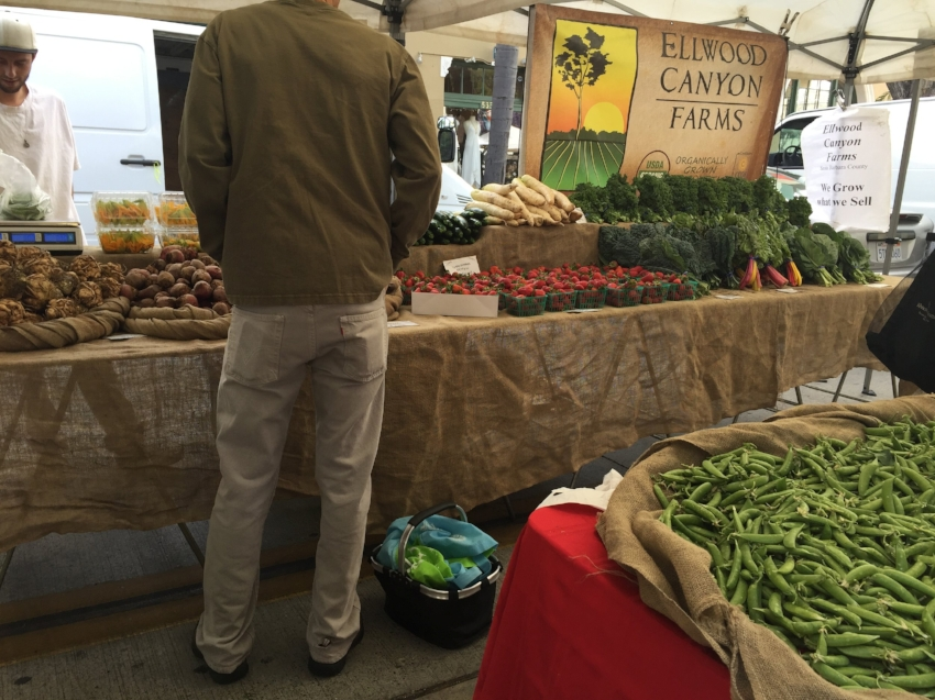 The farmer's markets feature produce and products from a variety of local surrounding farms.