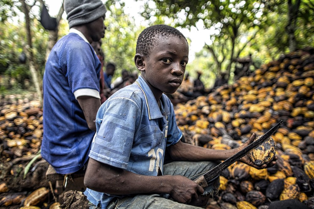 Some farm in the Ivory Coast- one of the biggest producers of cacao, uses child labor.