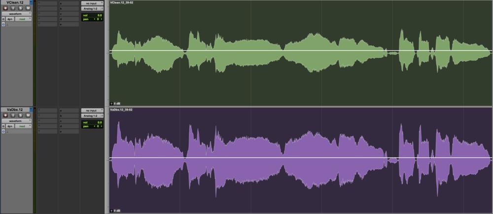 Clean Vocal vs dbx160a Compressor