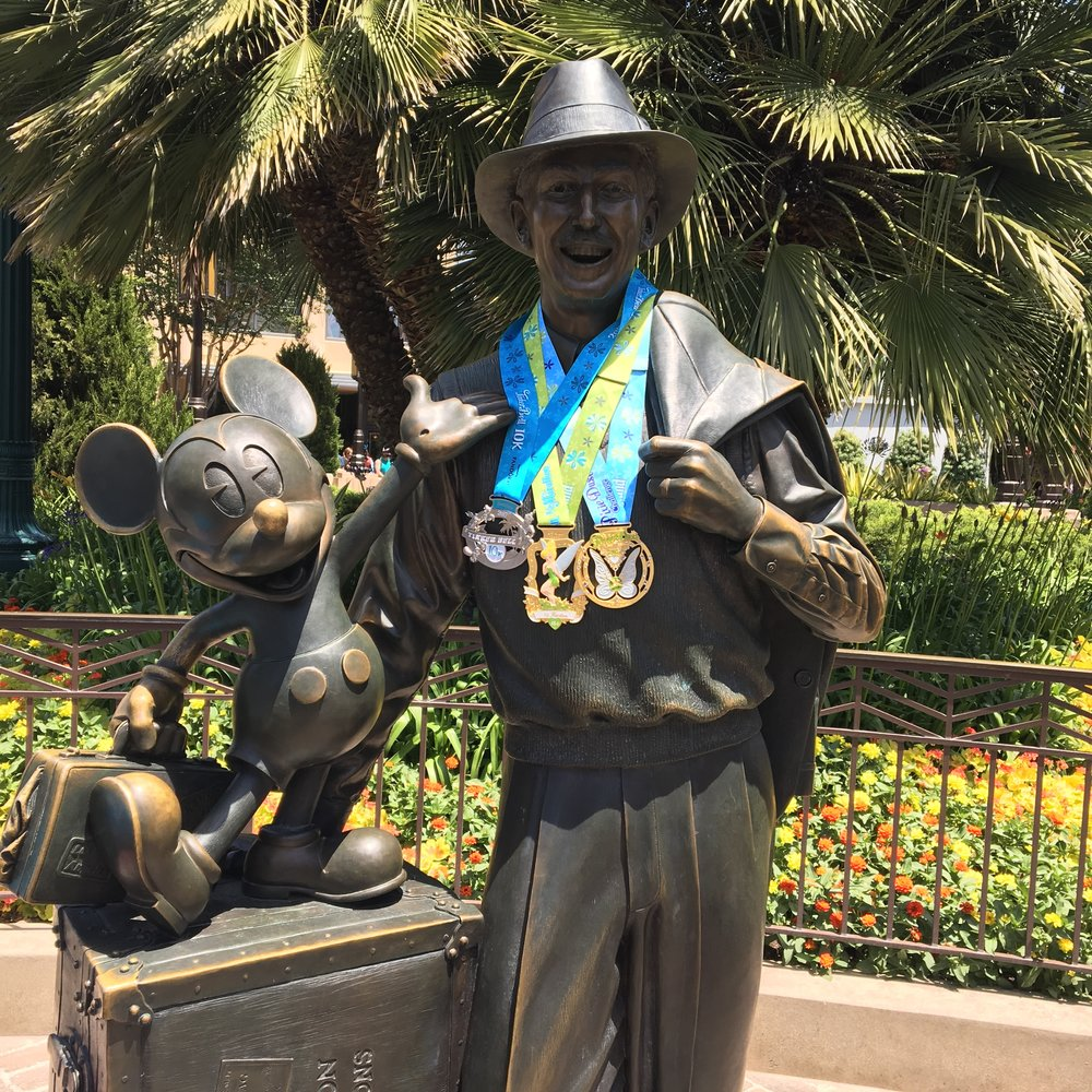 RunDisney bling and motivation from the Pixie Dust Challenge.