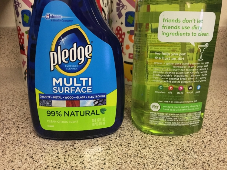 You do not need a cabinet full of cleaners. Just get a multi surface cleaner.