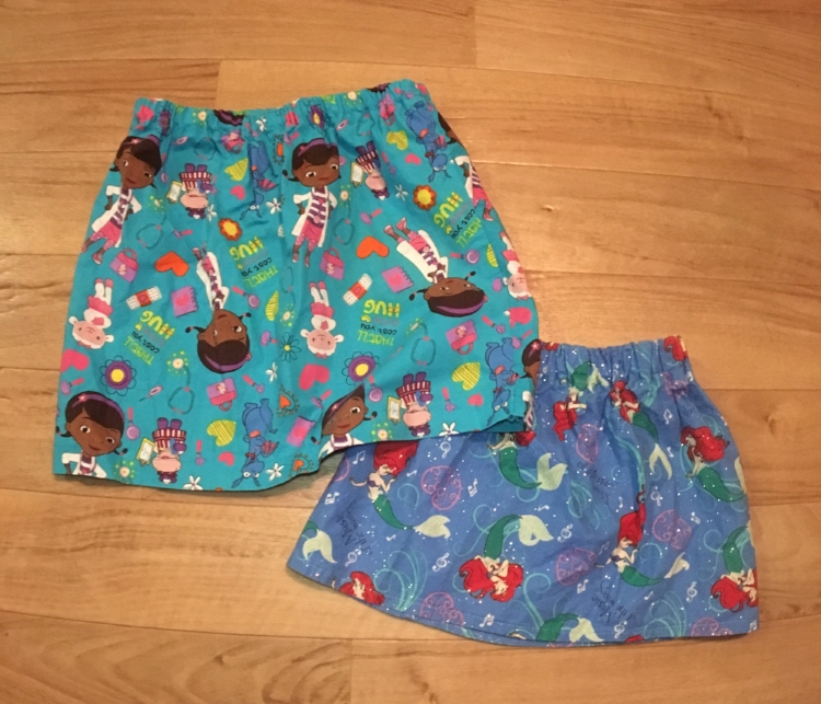 These skirts make great gifts. Once you have made a few it becomes a very easy project.