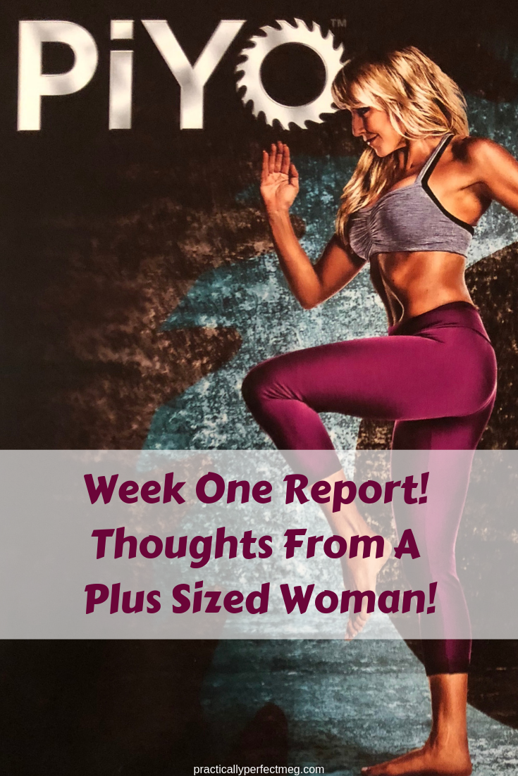 PiYo Week One Review. #PiYo #BeachBody #Fitness #PlusSizeExercise