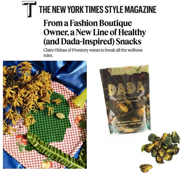 Introducing @dadadaily by @claire_olshan - an aesthetically-minded functional snack 👌🏼 Available now!