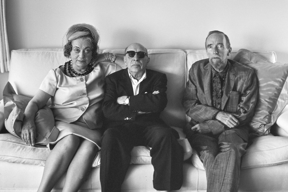 With Vera and Igor Stravinsky, Hollywood, 1961. -