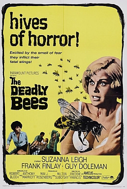 Original movie poster for The Deadly Bees  (courtesy Amicus Productions website, not affiliated with Amicus Entertainment).