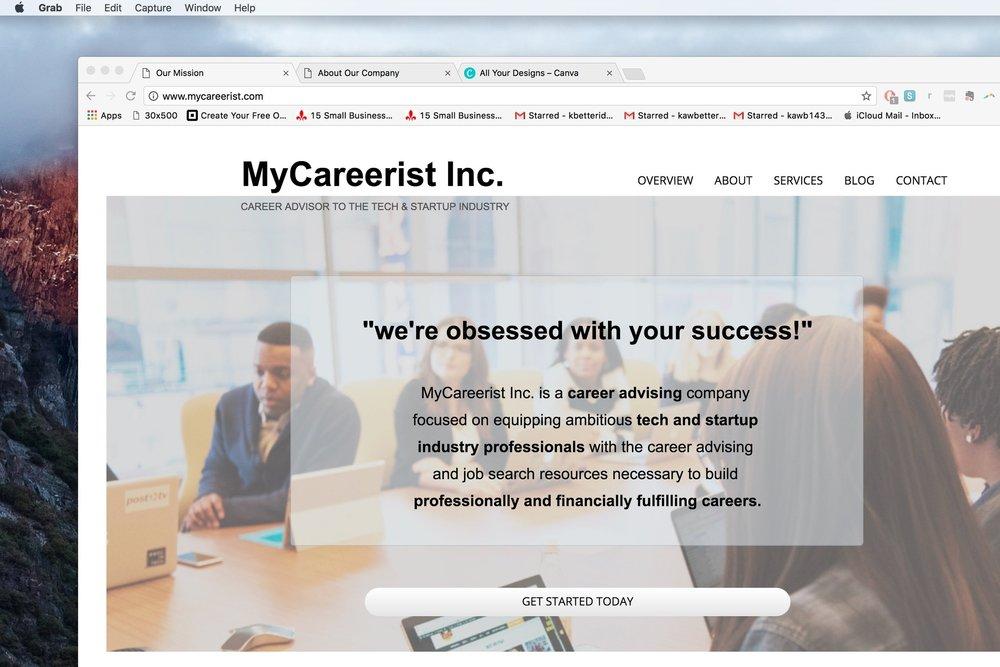 mycareerist inc. - designing a career consultancy website:www.mycareerist.com