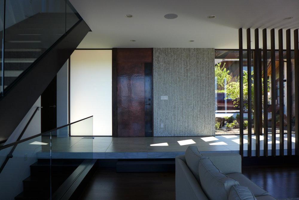 accent wallpaper and door.JPG