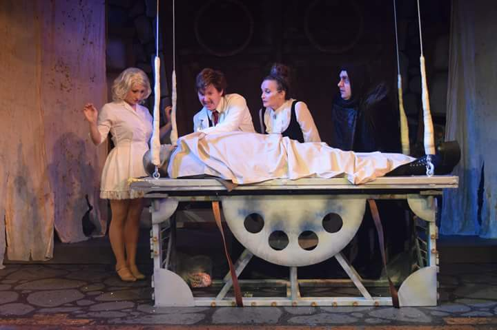 "Star plaza theatre, Ensemble theatre company. ""YOUNG FRANKENSTEIN."""