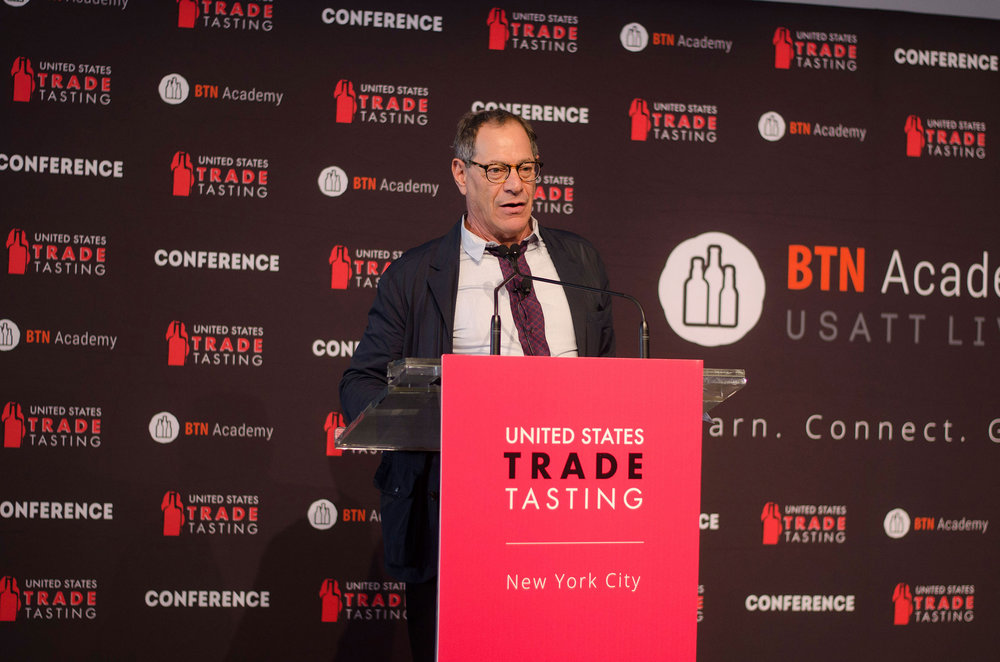 Addressing the USA Trade Tasting Conference 2017.