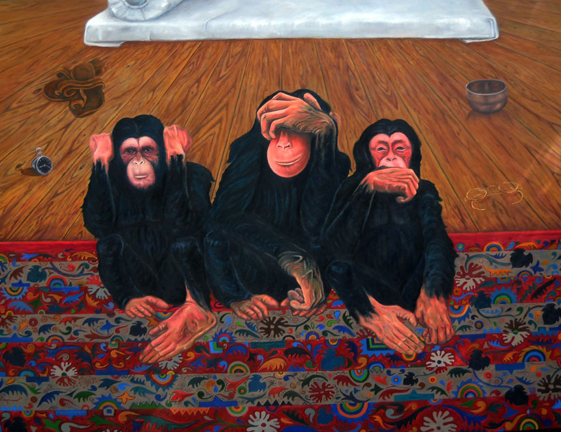 Untitled [Three Monkeys] (2013)