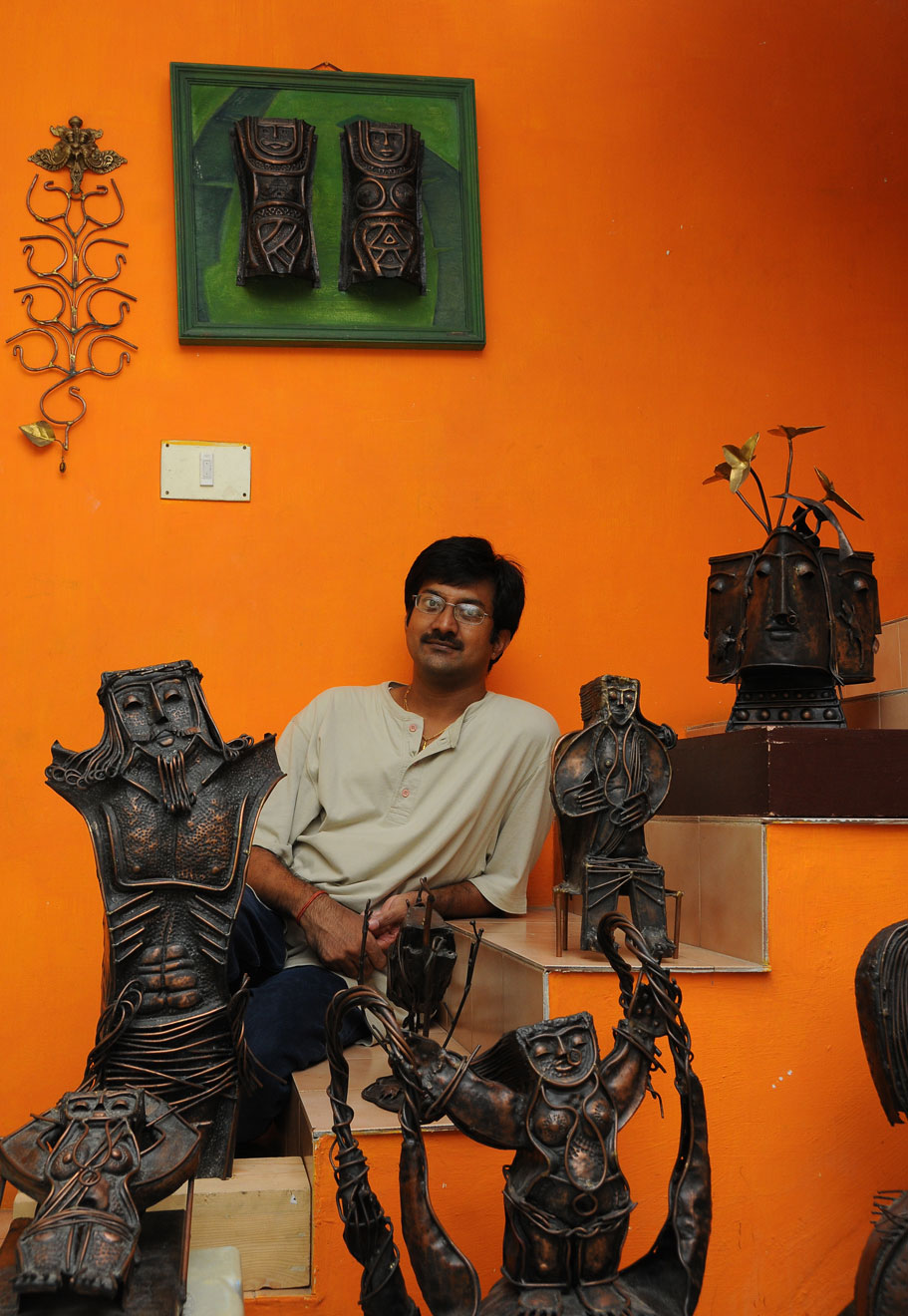 Artist with works
