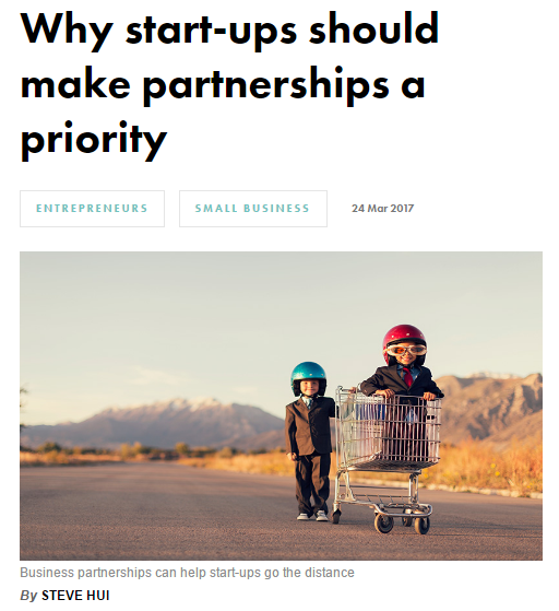Why start-ups should make partnerships a priority