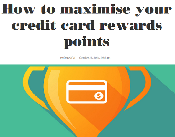 Money Mag - How to maximise your credit card rewards points
