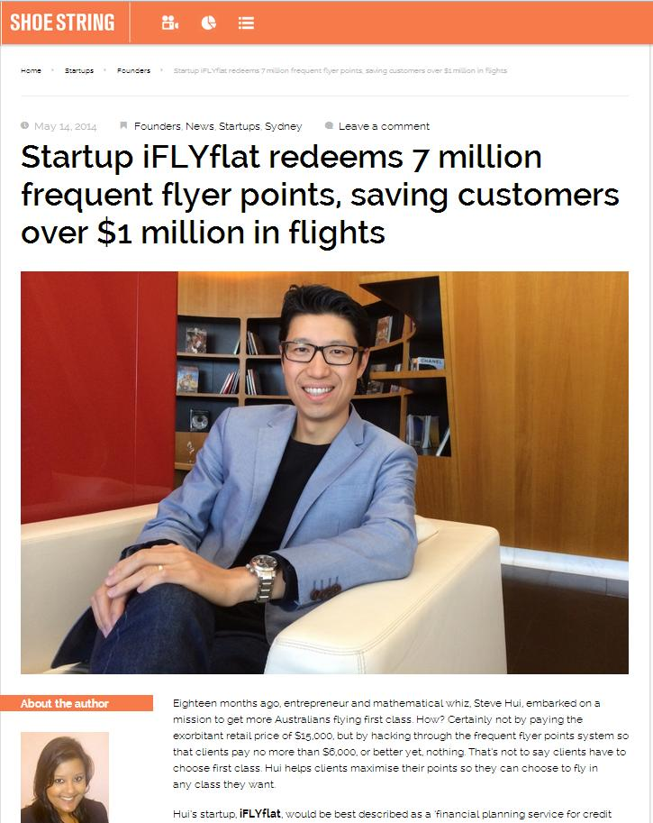 iFLYflat redeems millions of frequent flyer points