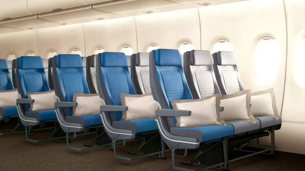 More legroom and back support for economy class passengers. And, new pillows, so you can cry yourself to sleep.. Jokes!