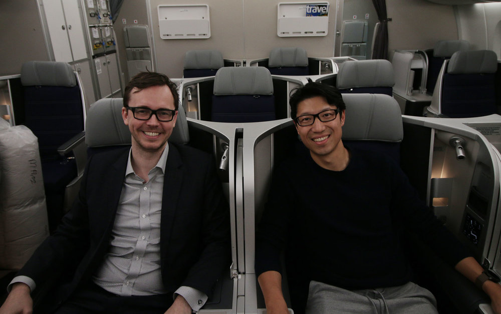 Steve Hui, CEO of iFLYflat with Mark Ross-Smith, head of Malaysia Airline Loyalty Enrich