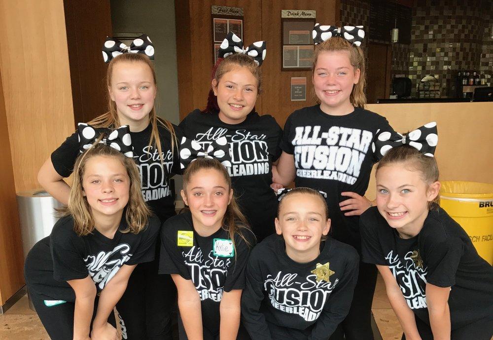 ASF Athletes: Jenna, Isa, Ashlynn, Kaylin, Kylie, Rylie, and Taylor