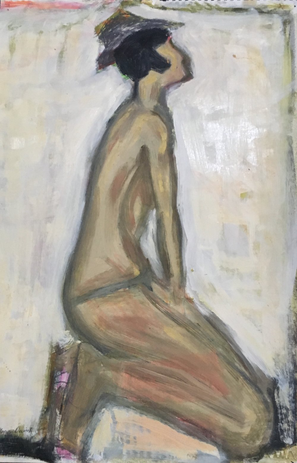 Nude with Hat 24x15.5 inches.jpg