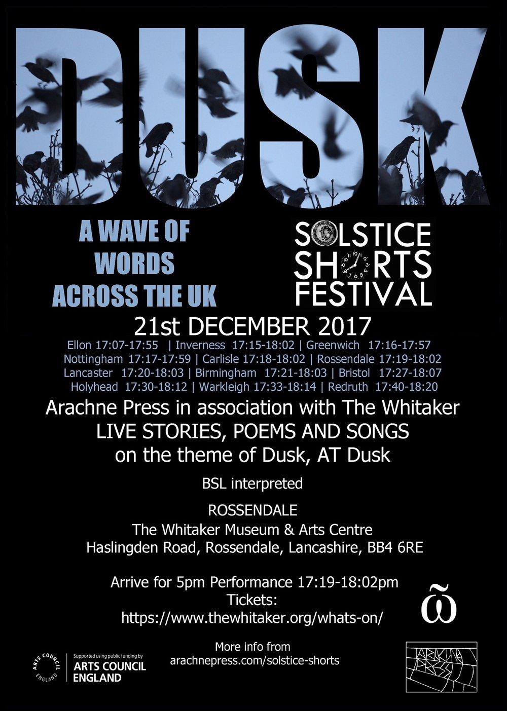 DUSK Soltice Shorts Festival ROSSENDALE