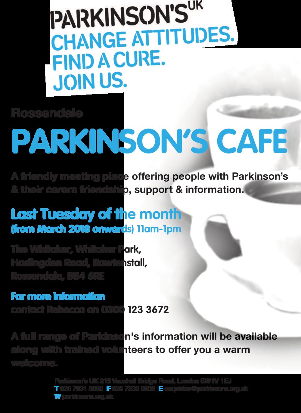 Rossendale Parkinsons Cafe