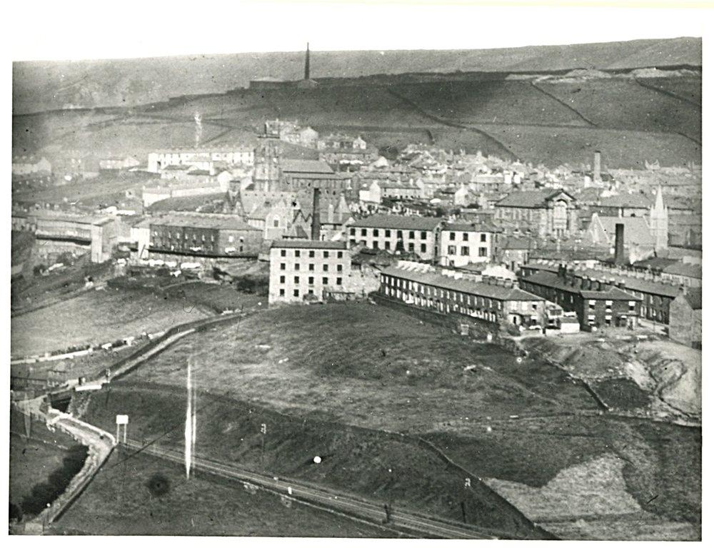 Haslingden, Fred's home town (pictured c.1895; haslingdens.blogspot.com