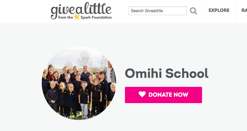 DONATE NOW - www.givealittle.co.nz/org/omihischool