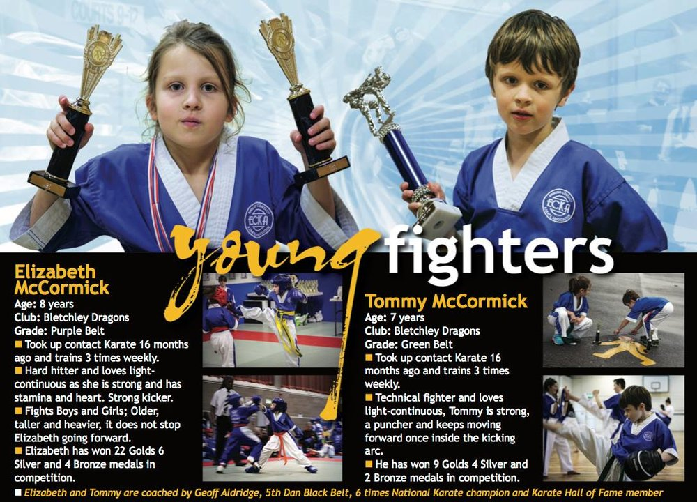 Lizzie and Tommy in the August 2017 edition of Martial Arts Illustrated