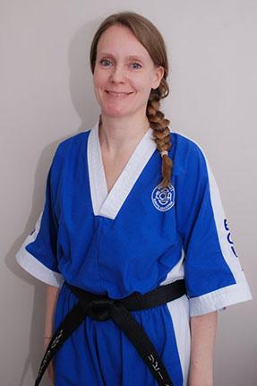 Sensei Libby  4th Dan Black Belt  EKF Qualified Instructor  ECKA Class 'B' Referee  Former ECKA National Champion