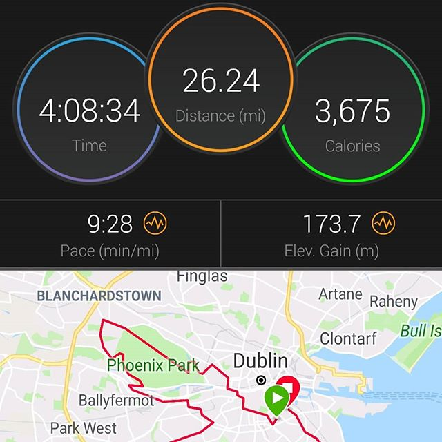 Dublin marathon done and dusted.