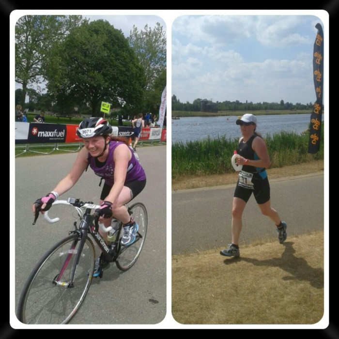 Enjoying the cycle at Blenheim and the run during the Eton Dorney Triathon