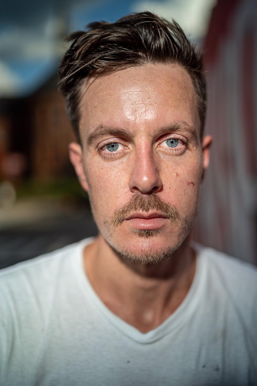 Ben Johnston, Mural Artist From Toronto, South Main Street, September, 2018.