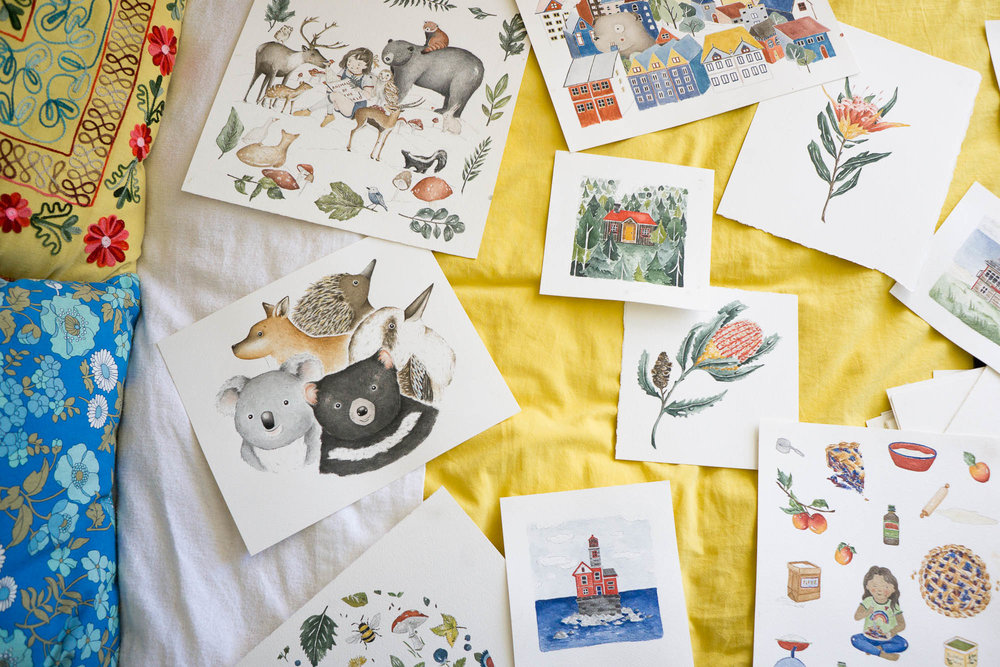 Discover the whimsical studio of Sydney Illustrator Chloe Jasmine Harris | Creative Branding | Visual Storytelling | Personal Branding Photography | Lifestyle + Travel Photographer | Christie Moore Photography