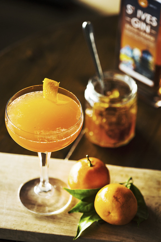 Blood Orange Martini Cocktail with St Ives Blood Orange Gin