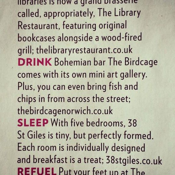 The Bridge, aka 'mini art gallery', got a mention in Red Magazine this month!
